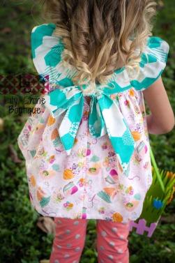 Flutter Sleeve Spring Top