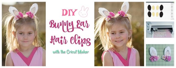 Bunny Ear Hair Clip Tutorial with the CricutMaker