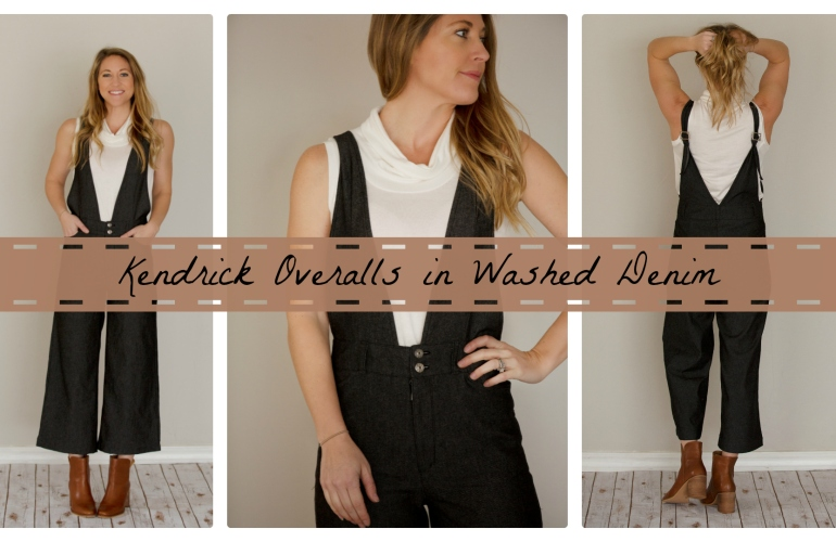 Kendrick Overalls, DIY Sewing, Handmade Wardrobe, Denim