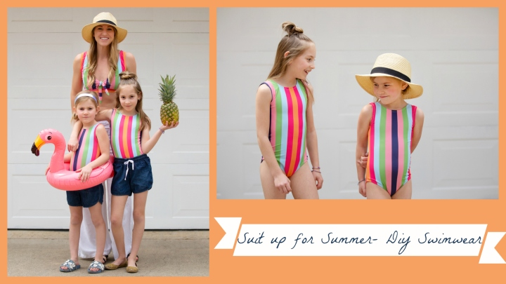 Ophelia Striped Swimsuits {Raspberry Creek Fabrics Swim Tour 2019}