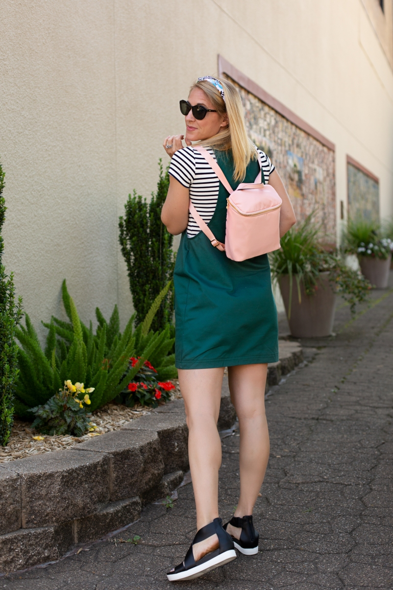 DIY Fashion: York Pinafore by Helens Closet with Rowan Tee by Megan Nielsen Patterns