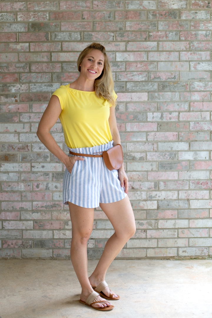 DIY Knot Tee & Paperbag Shorts: Romy Top & free Drawstring shorts