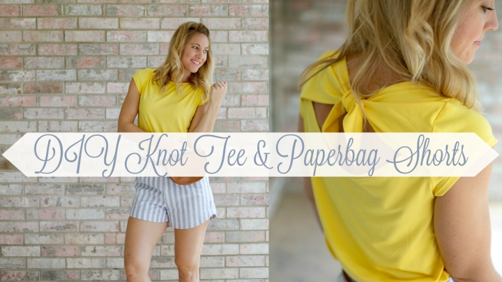 DIY Knot Tee & Paperbag Shorts: Romy Top and free Drawstring Shorts
