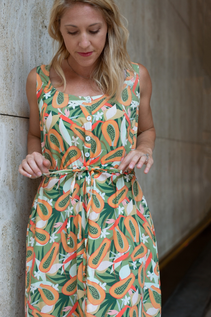 DIY Summer Dress with with Hawthorne Supply Co Fabrics