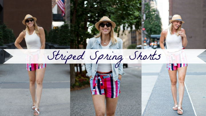 Striped Spring Shorts for a NYC Summer Trip