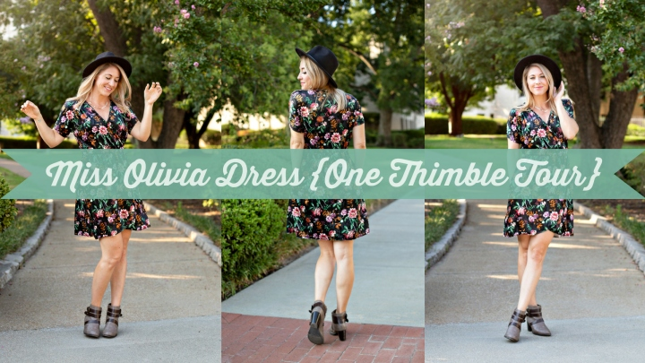 Miss Olivia Dolman Dress {One Thimble Blog Tour}