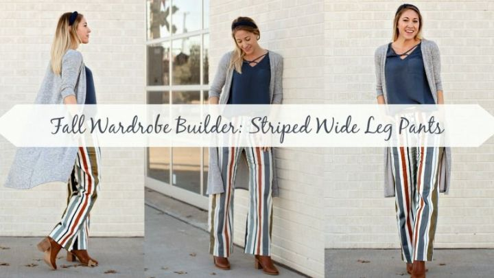 Fall Wardrobe Builder: Striped Wide Leg Pants