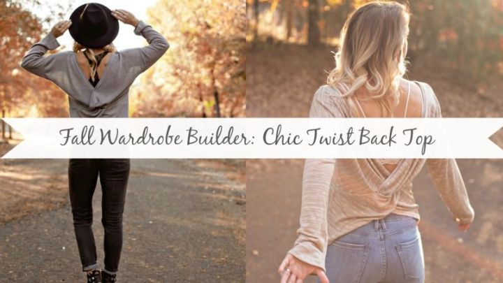 Fall Wardrobe Builder: Chic Twist Back Sweater